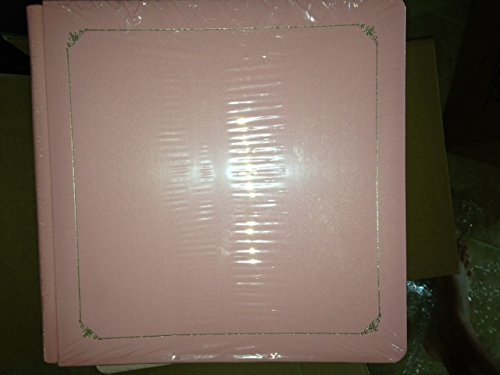 Creative Memories Rare Pink Album Coverset with Silver Border 12x12 12 X 12 Premiere and 15 White Pages