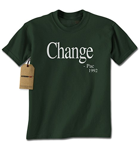Mens Change - Pac T-Shirt X-Large Forest (Tupac Costume)