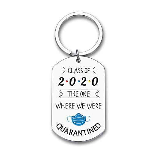 Graduation Quarantine Gifts for class of 2021 Funny Keychain the one where we were quarantined high school college…