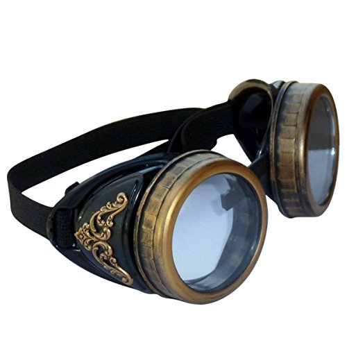 Steampunk-GogGLes-VicTORian-Novelty-Glasses-cosplay-Antique-filigree-S2-Clear-0