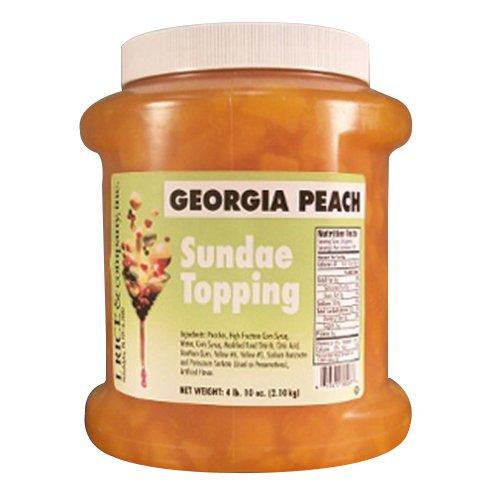 I.Rice & Company Georgia Peach Topping, 1/2 gal. Jar | 1 Each