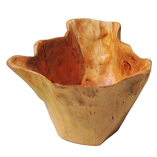 Deep Gift Bowl (WELLAND Wooden Deep Bowl Handmade Storage Natural Root Wood Crafts Bowl Bowls)