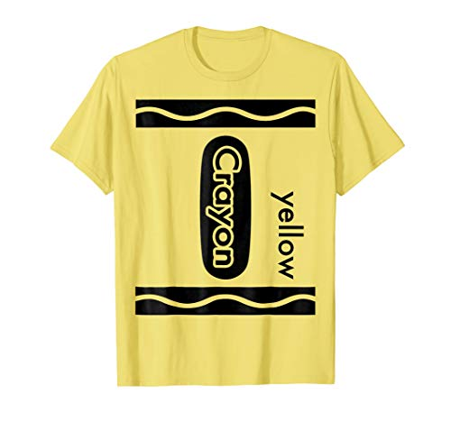 Yellow Crayon Halloween Costume T-Shirt Men Women Kids Group ()