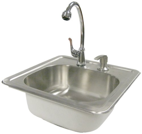 Cal Flame BBQ11963-H Sink with Faucet, Stainless Steel -
