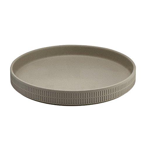 Fairmont & Main Raw 23cm Dish Pebble, Ceramic, Beige, 23 x 23 x 3 cm