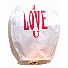 Eclipse I Love you Chinese Flying Sky Lantern (Set of 5) - Flying Chinese Sky Lanterns by Just Artifacts