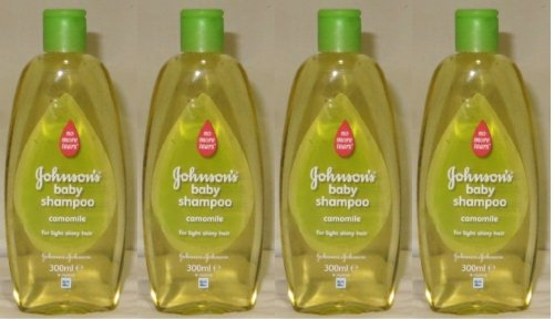 Johnson's Baby Shampoo No More Tears with Chamomile for Light Shiny Hair 10.1 Ounces / 300 Ml (Pack of 4) Johnson' s