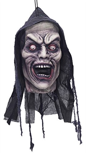 Screamers Halloween Costumes (UHC Scary Haunted House Hanging Screamer Head Party Decoration Halloween Prop)