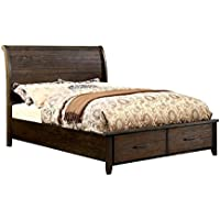 Furniture of America Bell Queen Platform Bed in Espresso