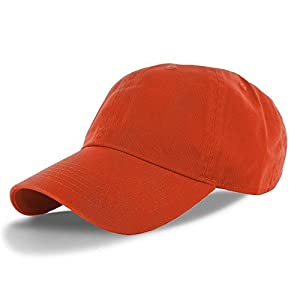 Orange_(US Seller)Cotton Plain Solid Polo Style Baseball Ball Cap Hat from Thailand