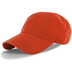 Orange_(US Seller)Cotton Plain Solid Polo Style Baseball Ball Cap Hat