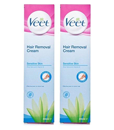Veet Hair Removal Cream For Sensitive Skin With Aloe Vera 200ml 2
