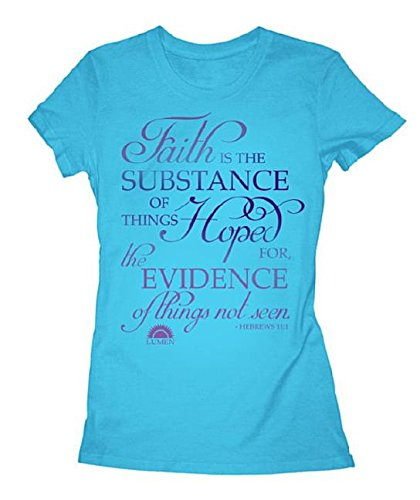 Download Tshirt Faith Is Women's Short Sleeve Medium Blue ebook