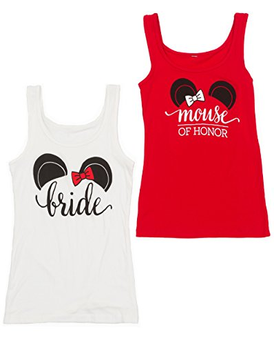 [The Happiest Bachelorette Party Shirts - 'Bride' 'Mouse of Honor' 'Bride's Mouse' and 'Party Mouse' (M, White -] (All White Party Outfit Ideas)