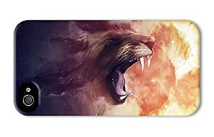 Hipster free iPhone 4 case abstract lion art PC 3D for Apple iPhone 4/4S
