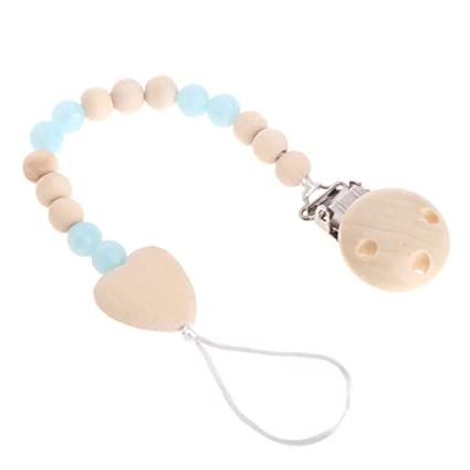 MIsha Seguro perlas de silicona Chupete Cadena Titular ...