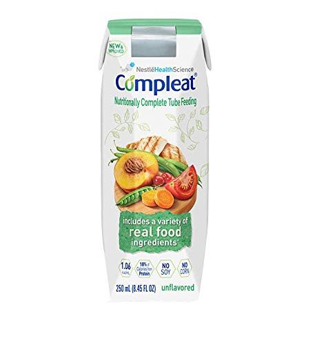 Nestle Healthcare Nutrition Inc 85140100Ca Compleat Modified Tube Feeding Unflavored Food 250Ml,Nestle Healthcare Nutrition Inc - Case 24 (250 Ml Food)