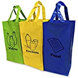 Proteam reciclado bolsas, juego de 3: Amazon.es: Hogar