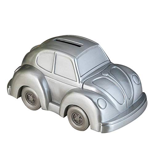 WF Piggy Bank - Cartoon Car Children's Creative Toys Cute Piggy Bank (Color : Silver)