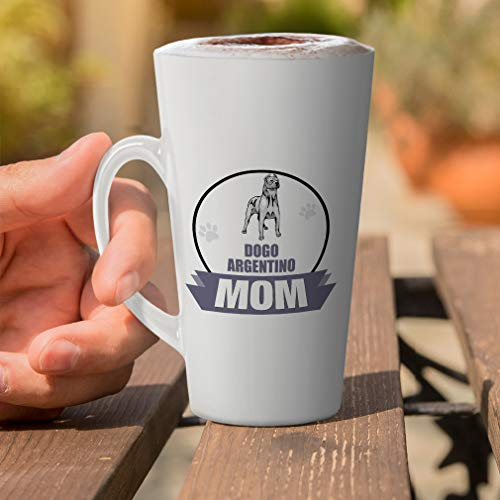 Ceramic Custom Latte Coffee Mug Cup Mom Dogo Argentino Dog Tea Cup 17 Oz Design Only 11