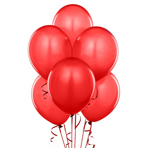Qualatex 43790 100-Count Latex Balloon, 11-Inch, Red ()
