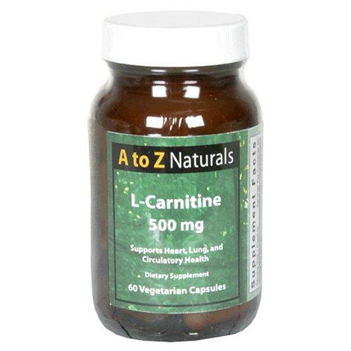 UPC 719985739316, A to Z Naturals L-Carnitine, 500 mg, Vegetarian Capsules, 60 capsules