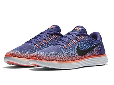 Nike Womens Free RN Distance Running Shoe Dark Purple Dust/Black/Gamma Blue 7.5