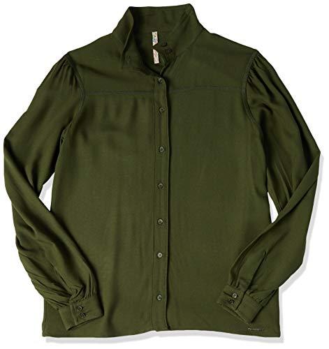 Camisa Gola Alta, Colcci, Feminino, Verde Bennet, P