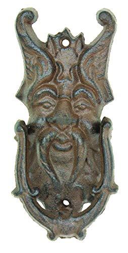 Cast Iron Northwind Door Knocker Garden Face Wall Art Northwind God