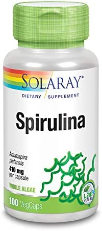 Solaray Spirulina, 410 mg, 100 Count