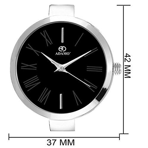 41MUiLfjgqL. SS500  - ADAMO Enchant Analog Black Dial Women's Watch - 2480SM02