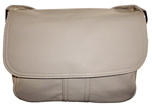 Schultertasche Handtasche Umhängetasche Shopper Damentasche beige