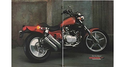 Magazine Print Ad: 1987 Honda VF700C Magna, Follow the leader', 2 pages