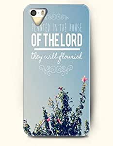 iPhone 5c for kids Case OOFIT Phone Hard Case **NEW** Case with Design Planted In The House Of The Lord They Will Flourish Psalm 92:13- Bible Verses - Case for Apple iPhone 5c