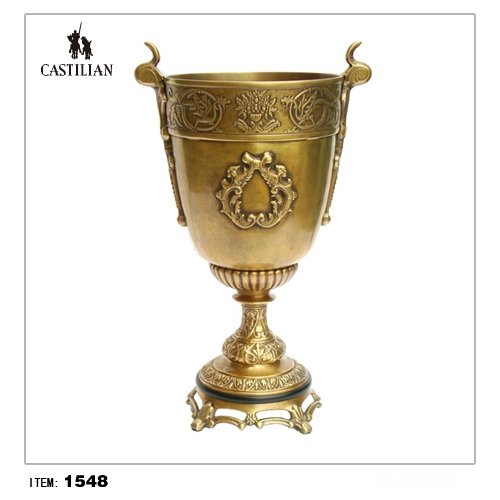Castilian ICE BUCKET, CELTIC, ANTIQUE BRASS #1548