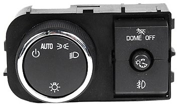 ACDelco D1527J GM Original Equipment Headlamp, Instrument Panel Dimmer, and Dome Lamp (Headlight Light Switch)