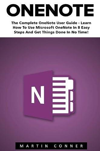 amazon com onenote the complete onenote user guide learn how to rh amazon com Microsoft Internet Radio Guide Microsoft Guideline