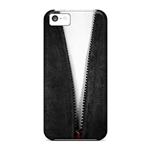 Awesome Design Red White Dark Lightning Hard Case Cover For Iphone 5c