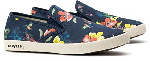 Seavees Womens Baja Slip On Trina Turk Navy Chrysanthemum