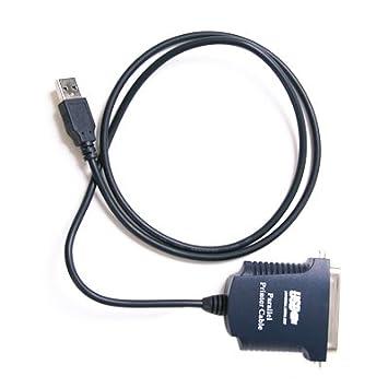 Amazon.com: USB A paralelo 1284 cable de impresora plata ...