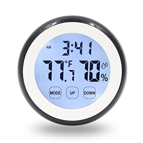 HIPPIH Digital Thermometer Humidity Touchscreen