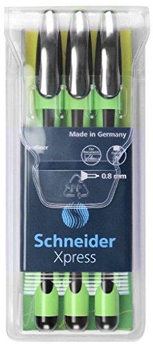 (Schneider Xpress Fine Liner 0.8 mm Porous Point Pen 3-Pack, Black)
