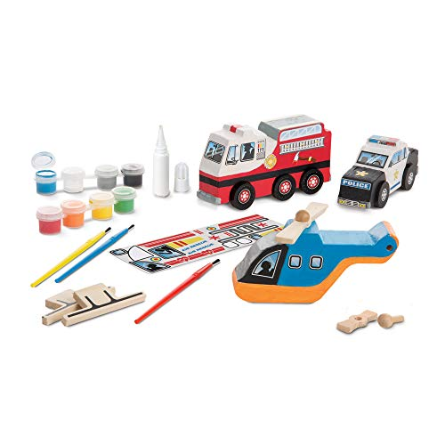Melissa & Doug Created by Me! Rescue Vehicles