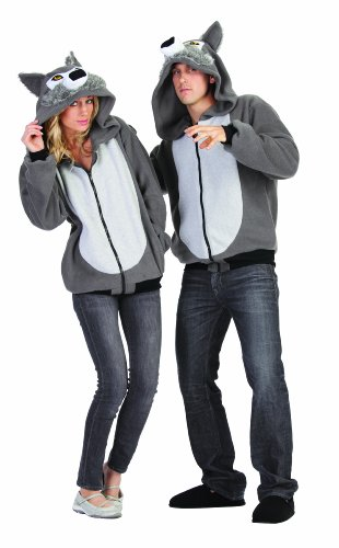 Wolf Costumes - RG Costumes Willie The Wolf Hoodie, Gray, Large