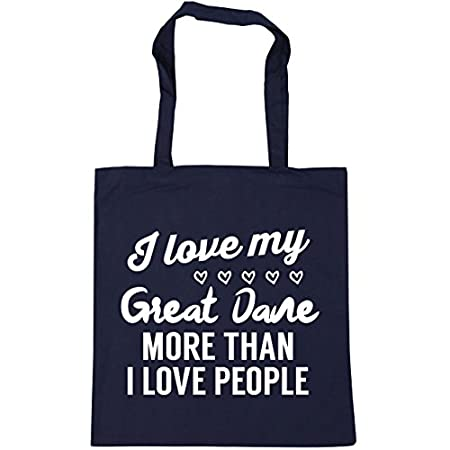 HippoWarehouse I love my great dane more than I love people Tote Shopping Gym Beach Bag 42cm x38cm, 10 litres 41MUlL1 sOL