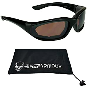 Small Motorcycle Sunglasses Foam Padded for Women, Boys and Girls (High Definition)