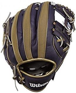 Navy//White Wilson A200 10 Milwaukee Brewers Glove Right Hand Throw