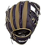 "Wilson A200 Youth MLB 10"" Tee Ball Glove in Team Logo Designs, All Positions and Perfect for Beginners"