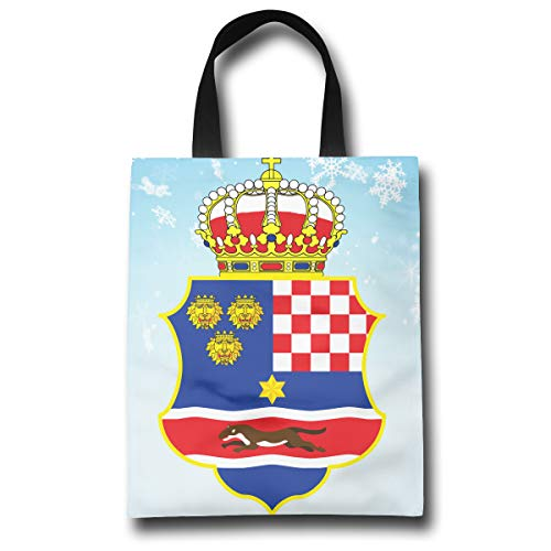 of The Kingdom of Croatia Fashion Reusable Shopping Bags Eco Friendly Durable Reticule ()