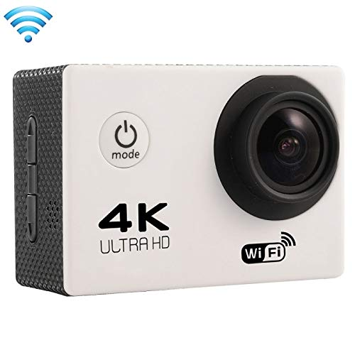 (#33) F60 2.0 inch Screen 4K 170 Degrees Wide Angle WiFi Sport Action Camera Camcorder with Waterproof Housing Case, Support 64GB Micro SD Card(White)